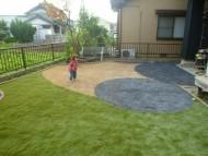 カラー人工芝でおしゃれに